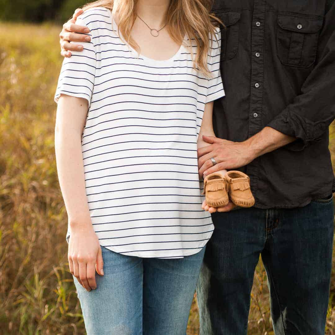 Baby shoes - baby announcement photos