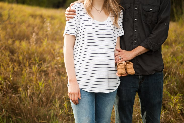 Baby Announcement with Minnetonka Moccasins