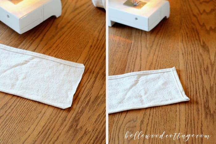 Learn how to make DIY drop cloth pillows using bleached drop cloths, antique lace, and a fun tecnhique that will make one pillow cover look like two!