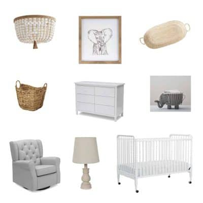 Elephant Inspired Gender Neutral Nursery