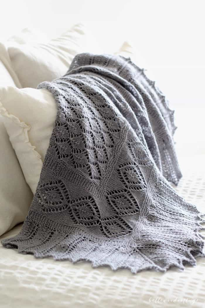 Discover how I created this affordable heirloom baby blanket (inspired by Princess Kate's baby shawls) with some time, patience, and a little know-how.