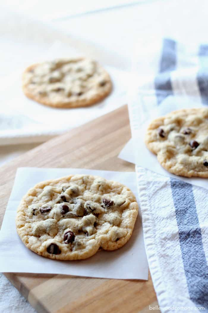 Wanna bake chewy cookies that stay chewy? Yeah, me too. That's why I'm sharing my quick & easy recipe for the best jumbo chewy chocolate chip cookies.