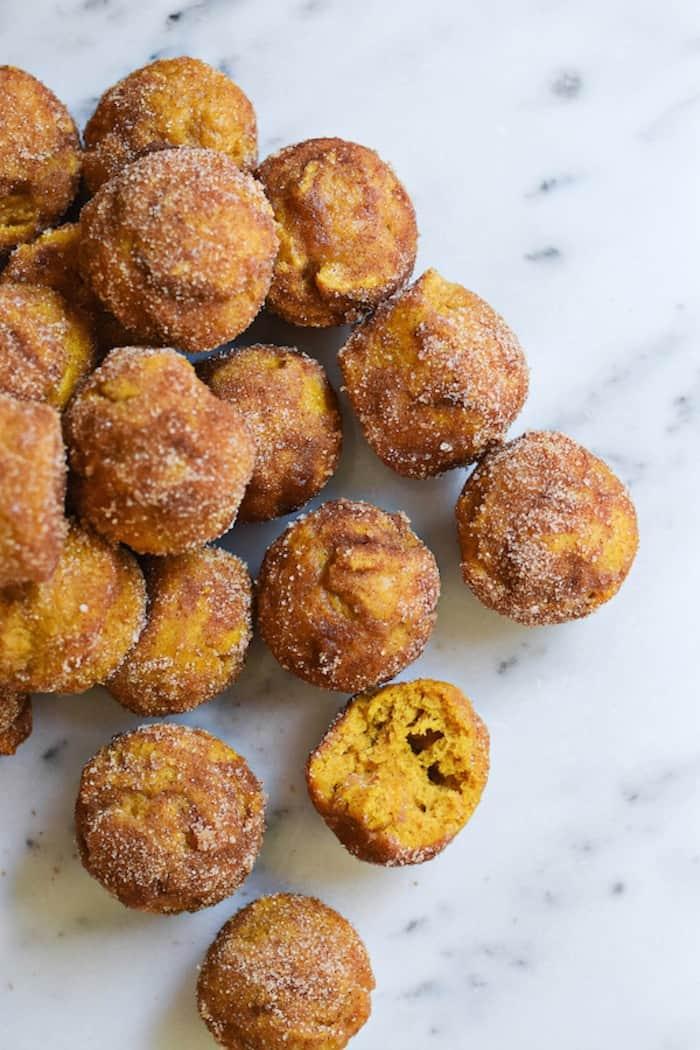 pumpkin doughnut holes from Rachel Schultz