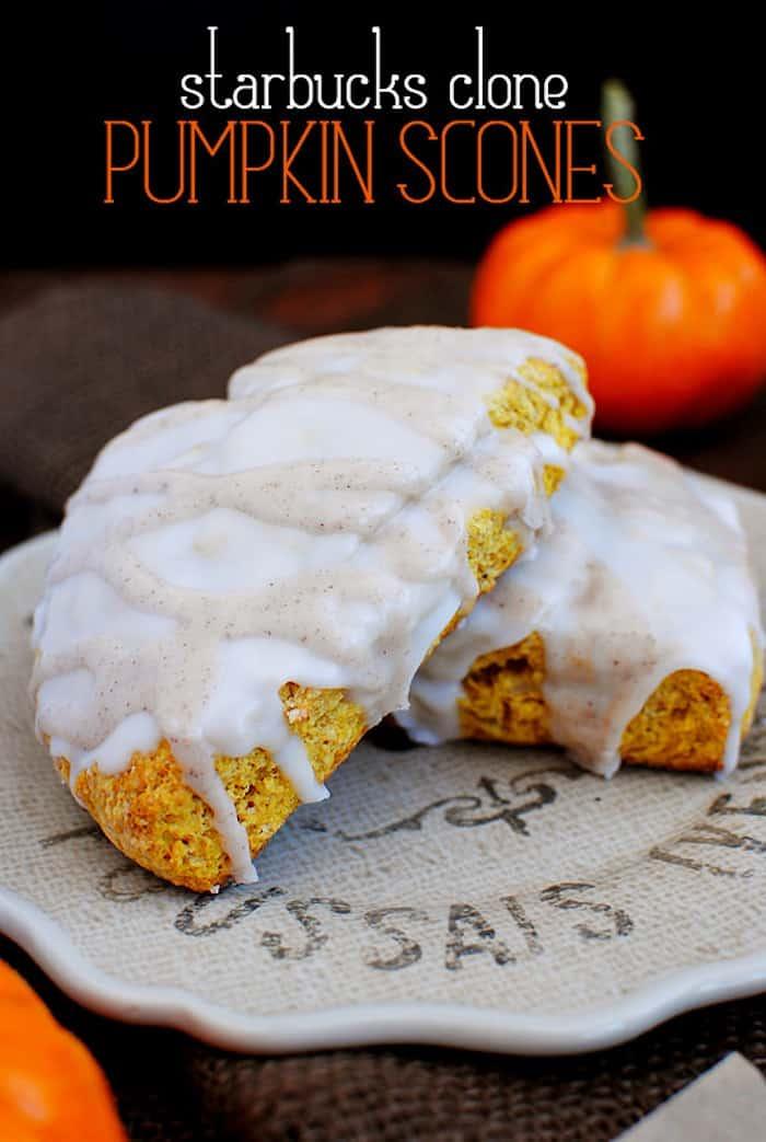 starbucks clone pumpkin scones from Iowa Girl Eats