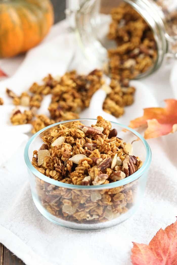 pumpkin spice granola from Tasty Seasons