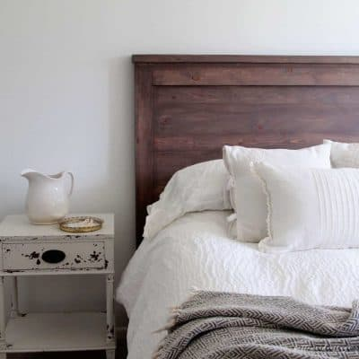 Make Your Own DIY Rustic Headboard
