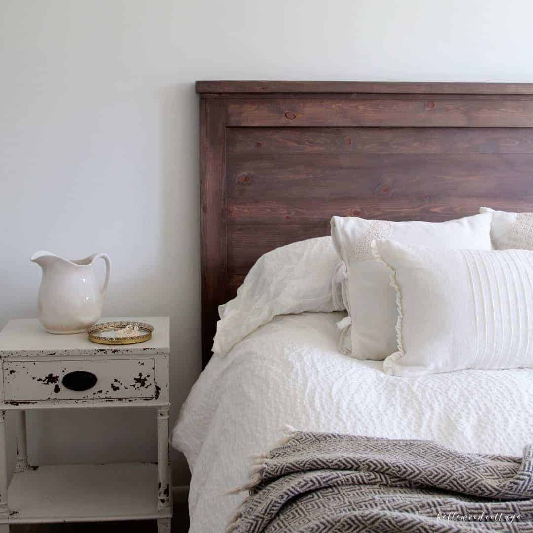 Make Your Own DIY Rustic Headboard - Bellewood Cottage