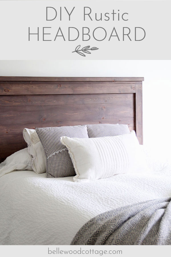 Learn how to create your own DIY rustic headboard with simple (and inexpensive!) pine boards and milk paint. Perfect for a farmhouse style home!