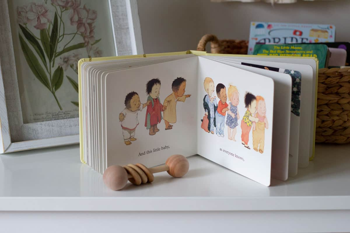 A look inside the book, Ten Little Fingers and Ten Little Toes.