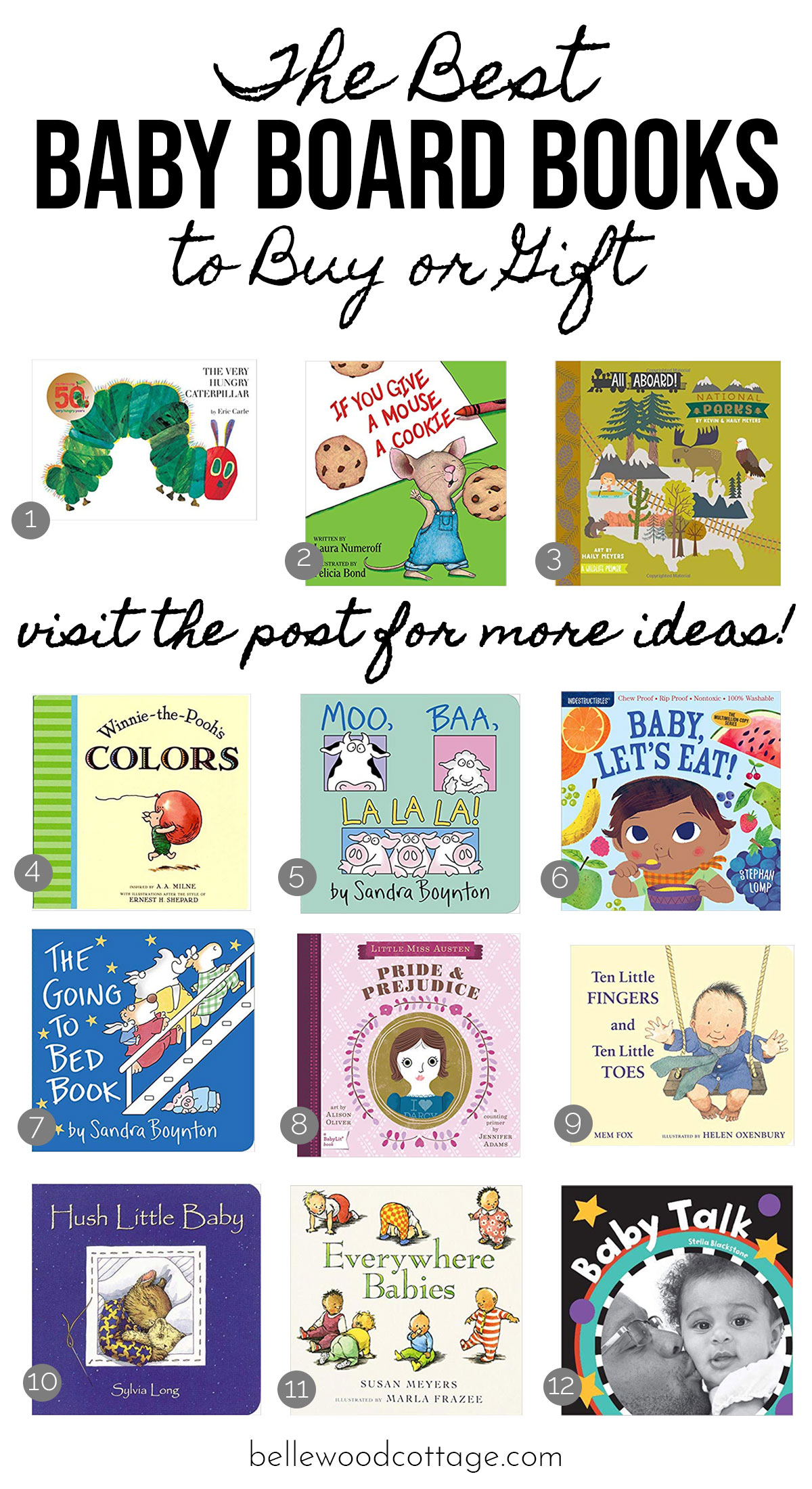 A collage graphic of the Best Baby Board Books.