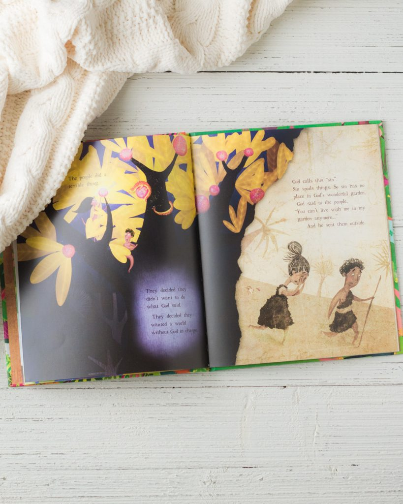 A closer look at the illustrations in the Garden, the Curtain, and the Cross book.