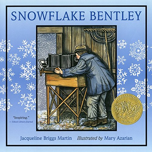 Book cover of Snowflake Bentley, a winter picture book.