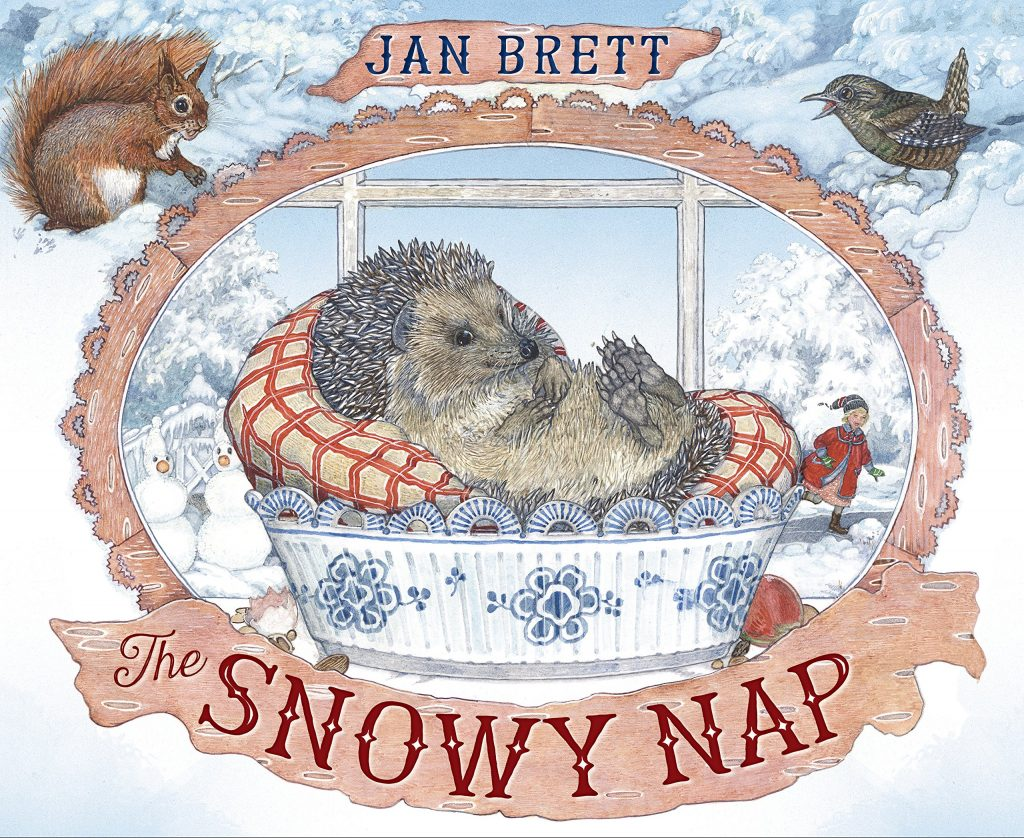 Book cover of The Snowy Nap by Jan Brett.