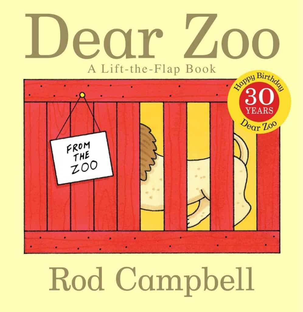 Dear Zoo book cover.