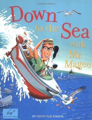 Down to the Sea with Mr. Magee book cover.