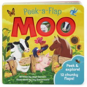 Moo: Peek-a-Flap book cover.