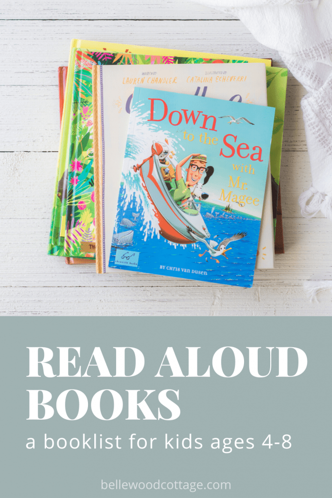 Books to read aloud with kids ages 4-8 including Down to the Sea with Mr. Magee.