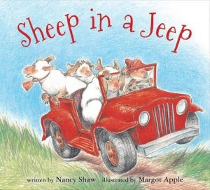 Sheep in a Jeep book cover.