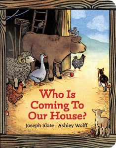 Who Is Coming to Our House? book cover.