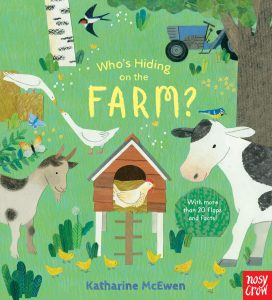 Who's Hiding on the Farm? book cover.