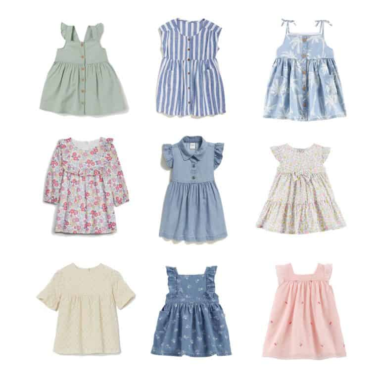 Summer Dresses for Baby Girls 0-24 Months