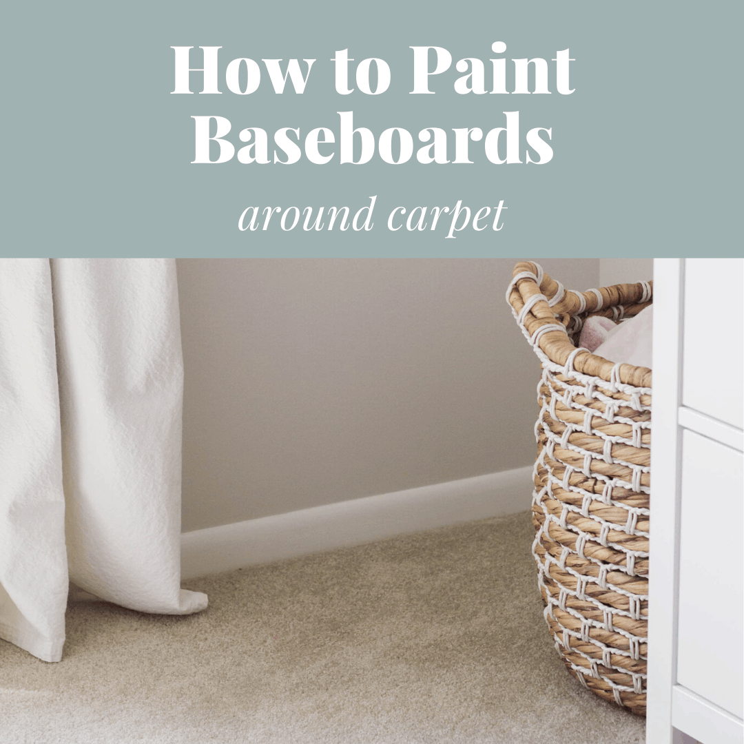 White baseboards on top of carpet.