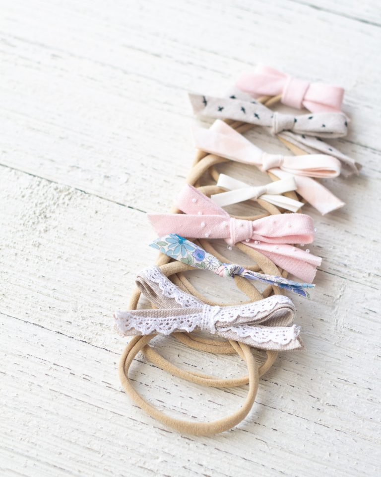 DIY Bias Tape Hair Bows for Babies, 7 Ways