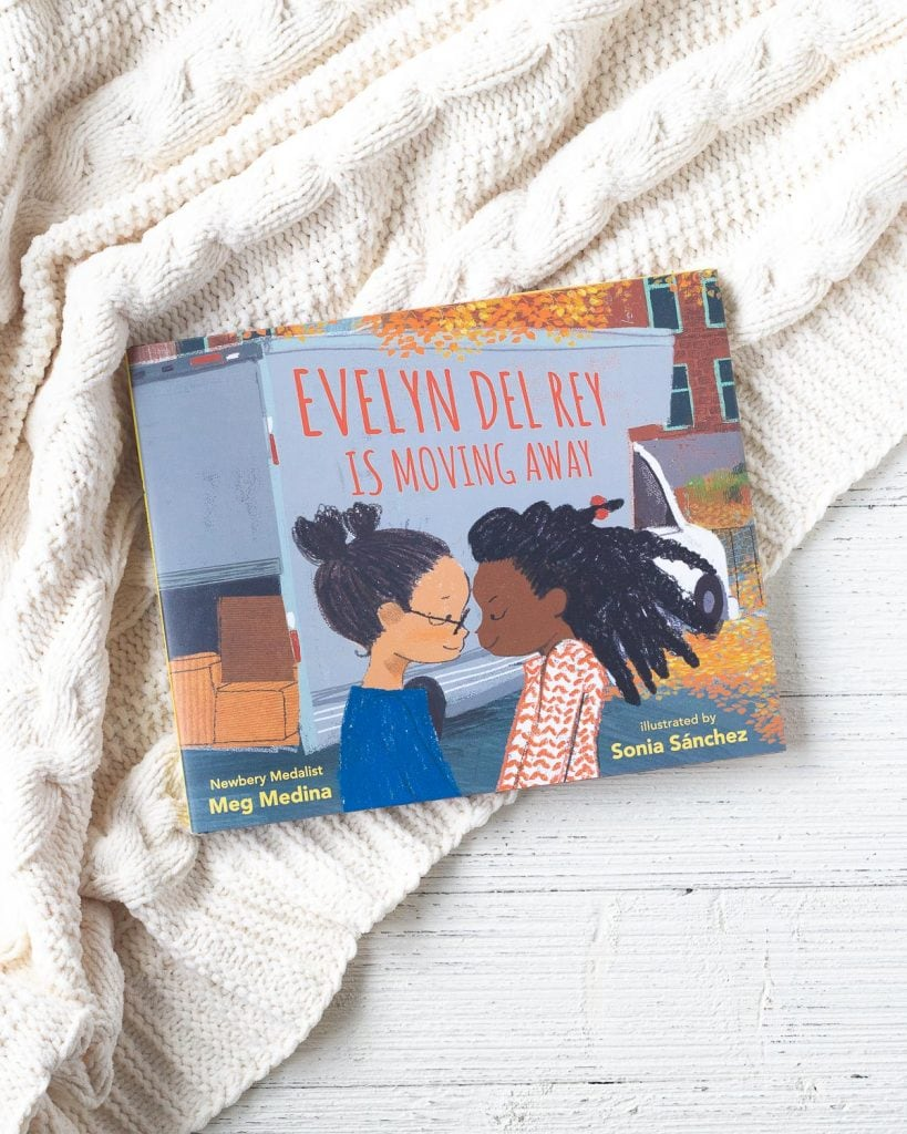The cover of a new children's book called, Evelyn Del Rey is moving away.