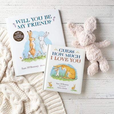 Children's books: Will You Be My Friend and Guess How Much I Love You by Sam McBratney and illustrated by Anita Jeram.
