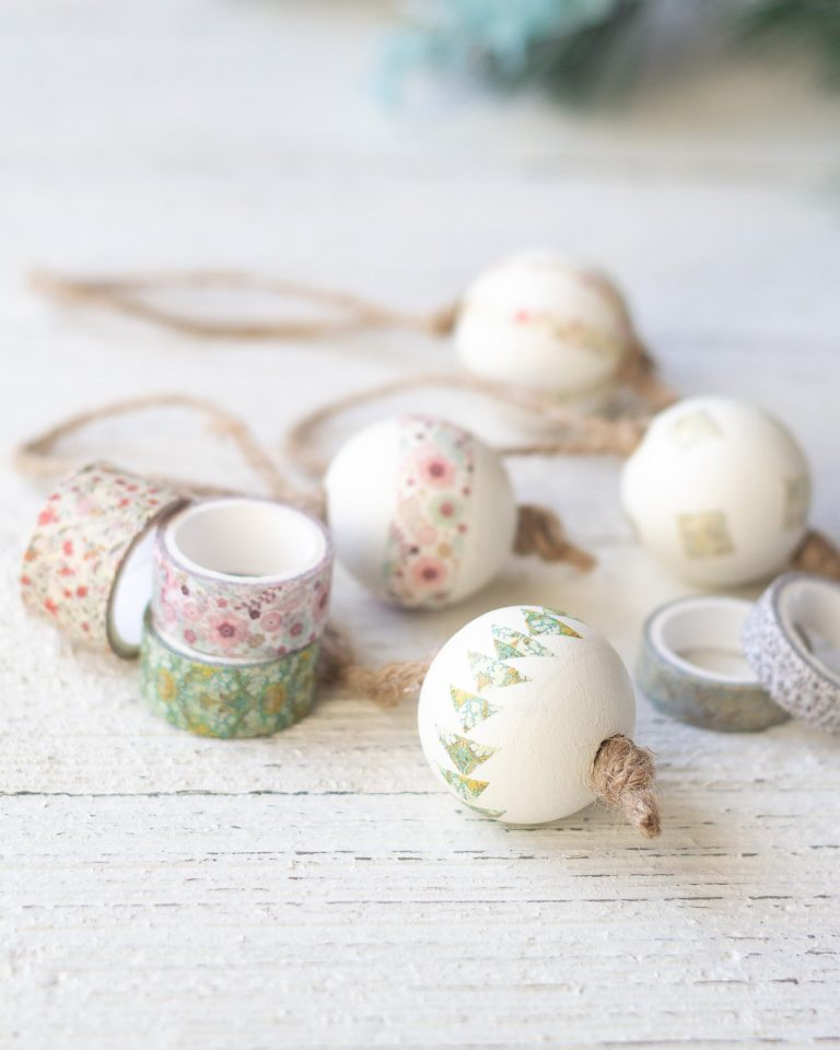 How to Make Washi Tape Christmas Ornaments