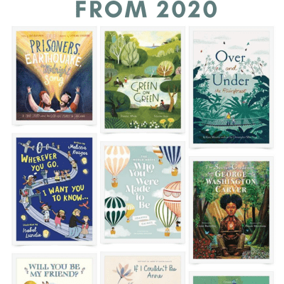 "A collage image of children's picture book covers with the words, ""Favorite Picture Books from 2020."""