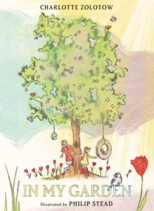"Cover image of a picture book called, ""In My Garden."""