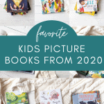 A collage image of Favorite Kids Picture Books from 2020.