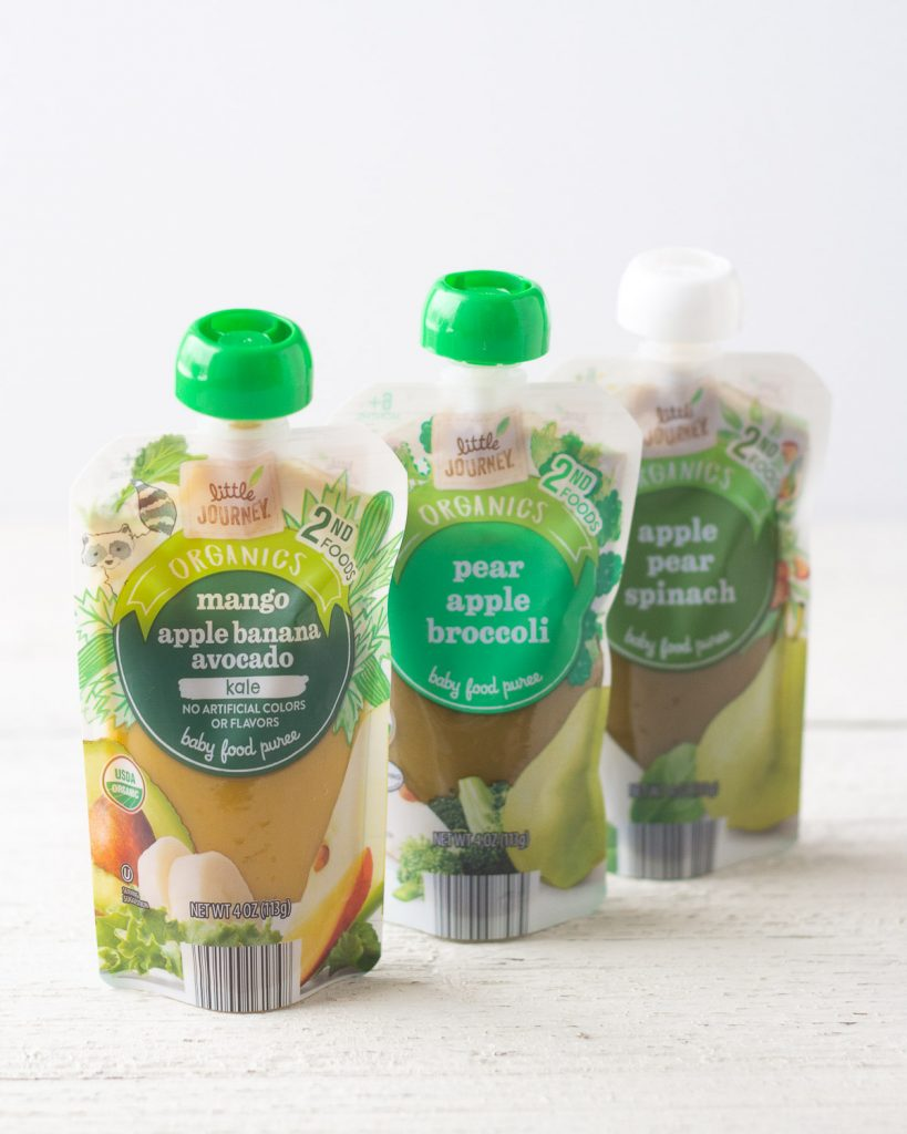 Three Little Journey Baby Food Pouches.