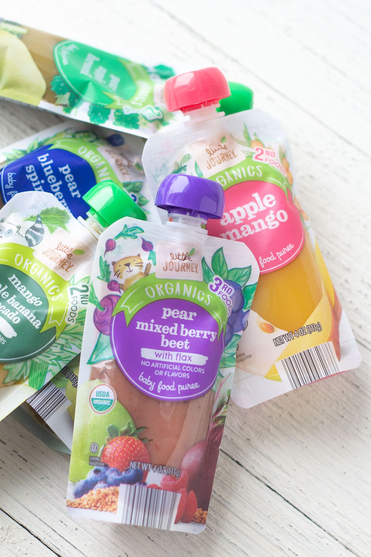 Little Journey Baby Food Pouches.