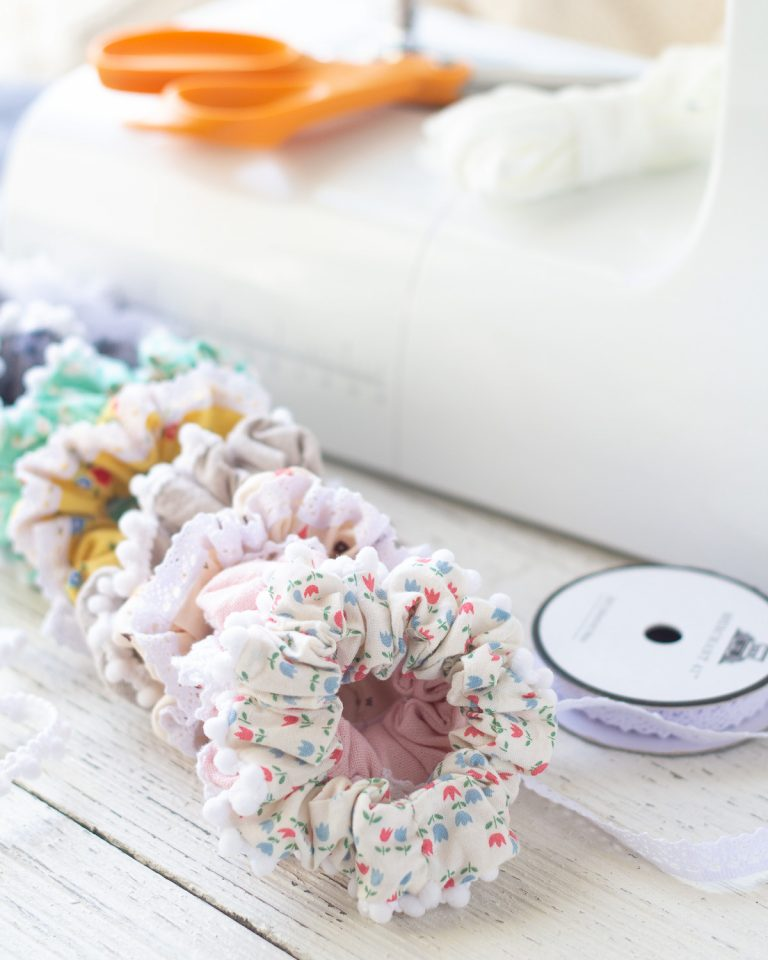 Lace-Trimmed Scrunchies Sewing Tutorial