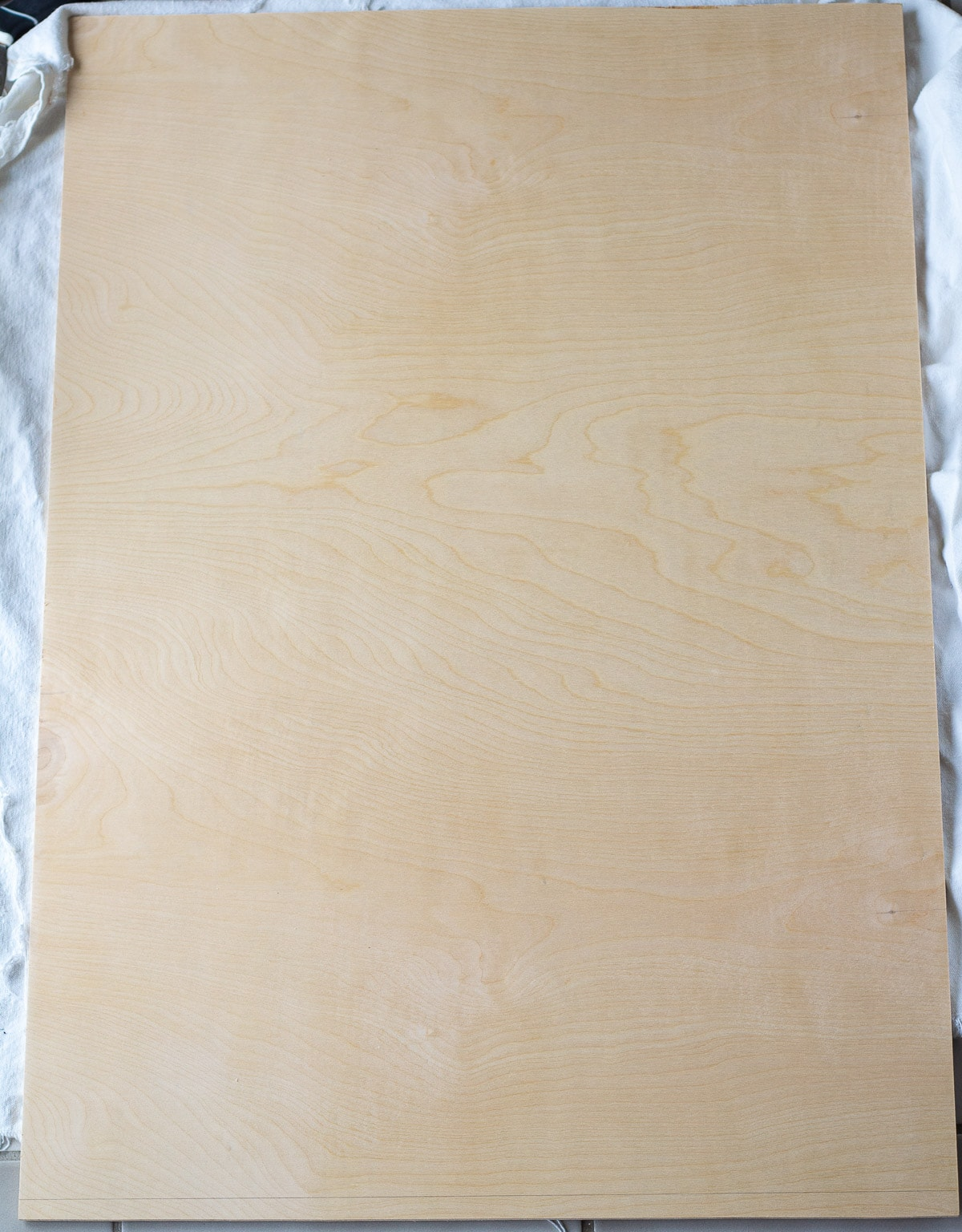 A large plywood board.