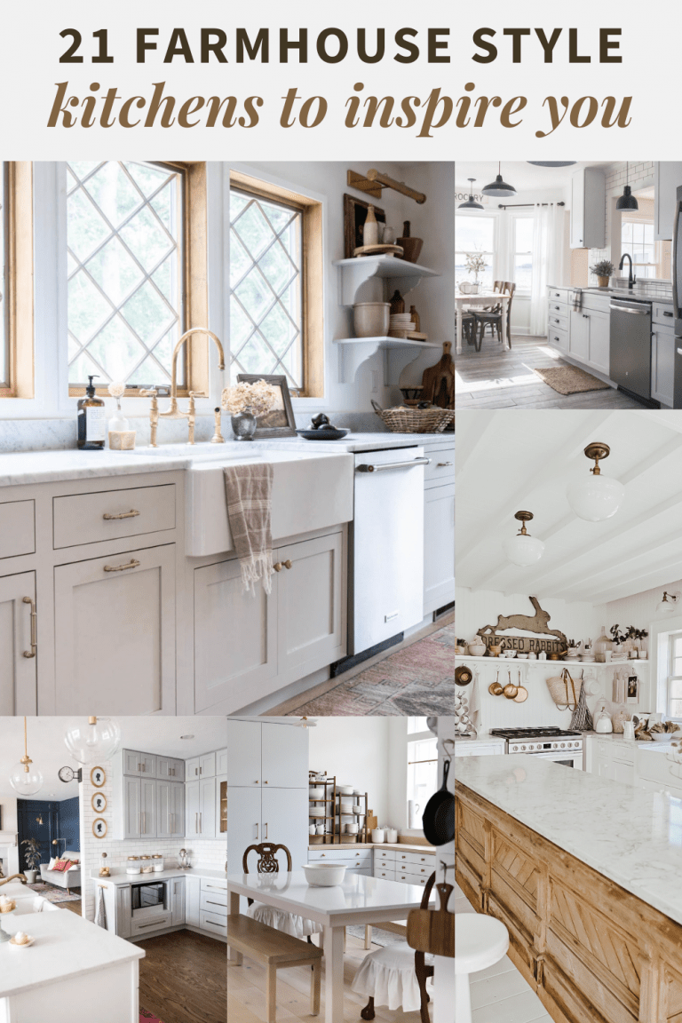 20+ Inspiring Farmhouse Style Kitchens from DIY Bloggers