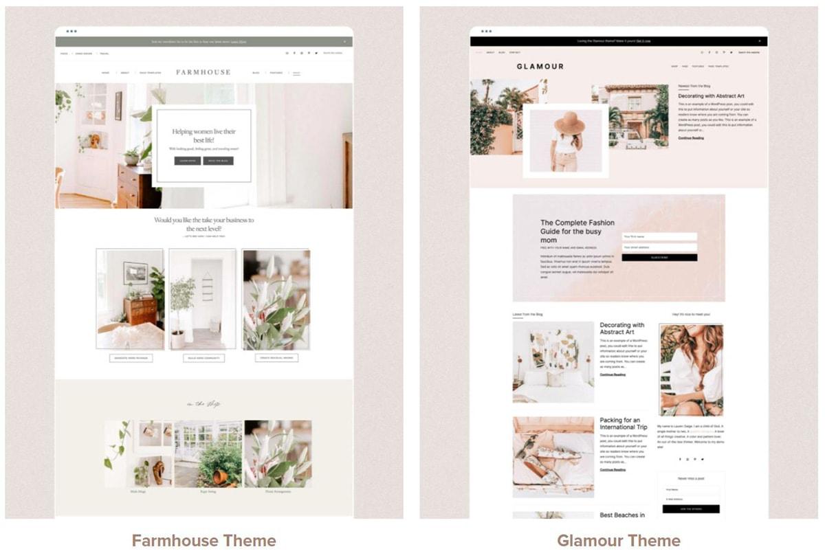 A screenshot of Genesis Restored 316 WordPress themes.