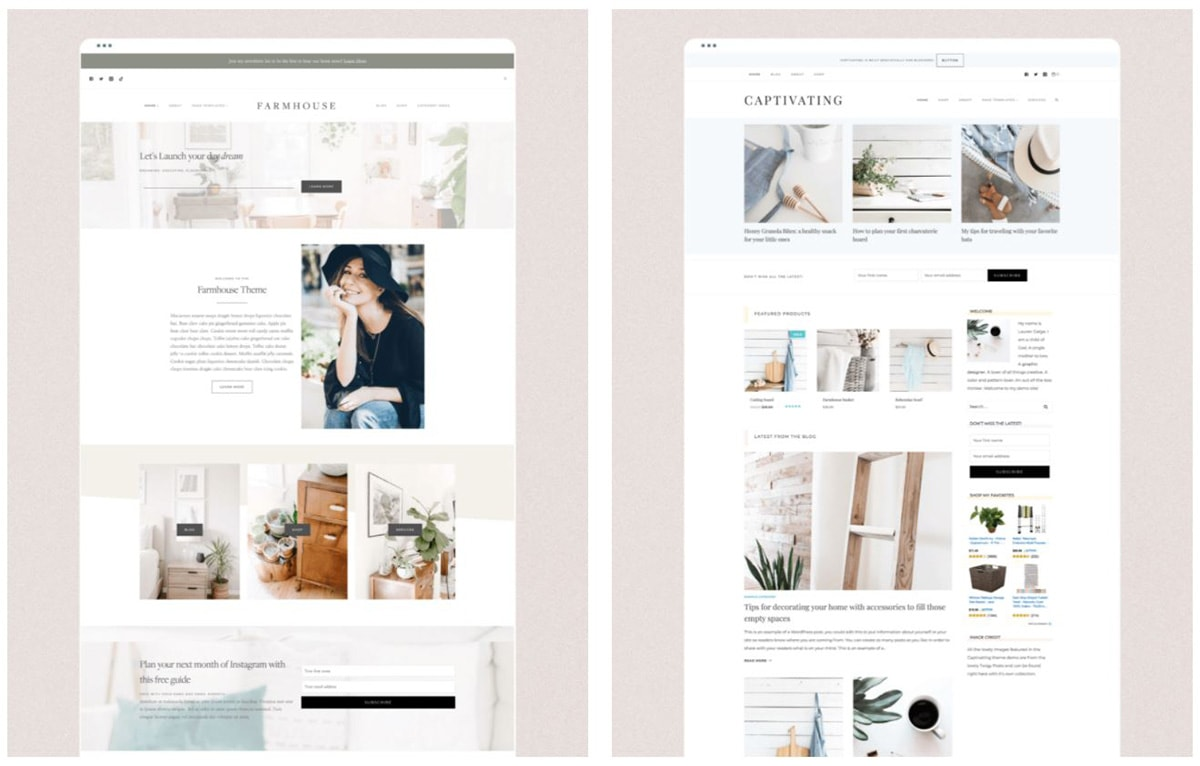 Screenshots of Restored 316 WordPress themes.