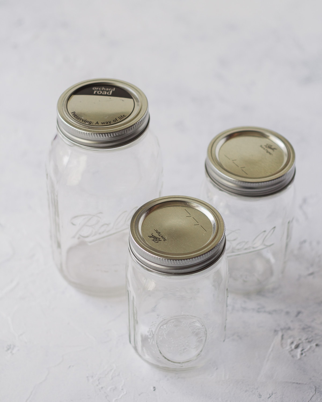 Three glass mason jars.