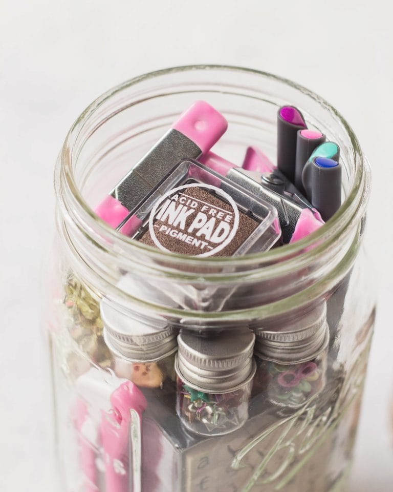 """""""Craft Kit"""" Mason Jar Gift Idea for Crafters"""