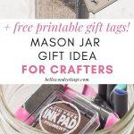 A Craft Supplies Mason Jar and a closeup of the inside of the jar.