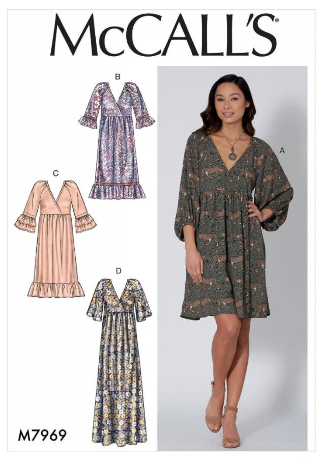 Casual loose dress McCall's Sewing Pattern envelope cover.