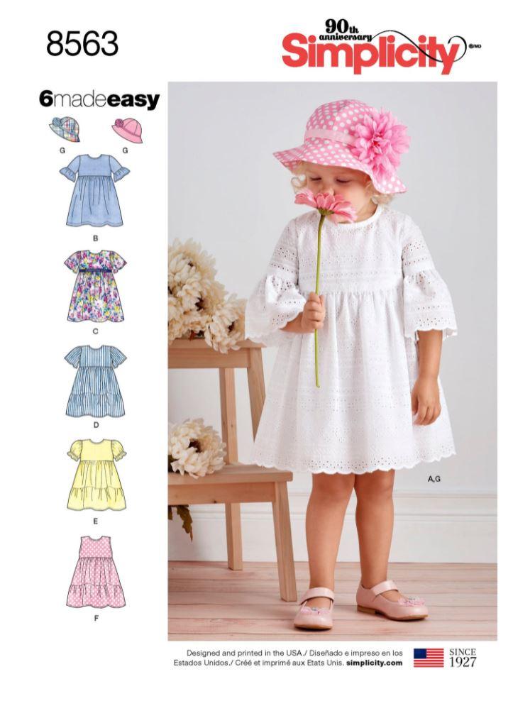 Simplicity easy toddler girl's dress sewing pattern envelope.