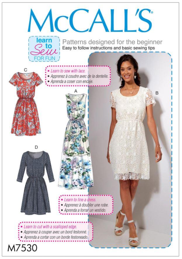 Easy sewing dress pattern envelope.