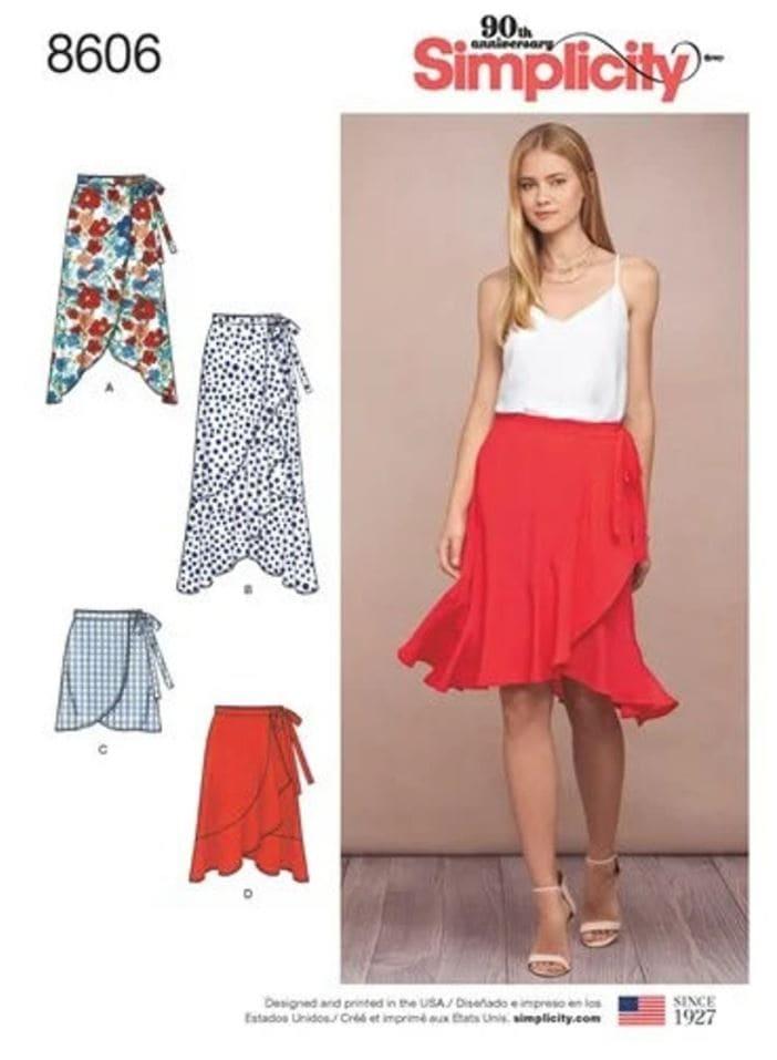 Simplicity ruffle wrap skirt sewing pattern.