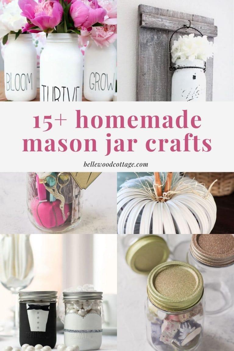 15+ Mason Jar Crafts and Décor Ideas