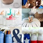 A collage of mason jar crafts and home decor ideas.
