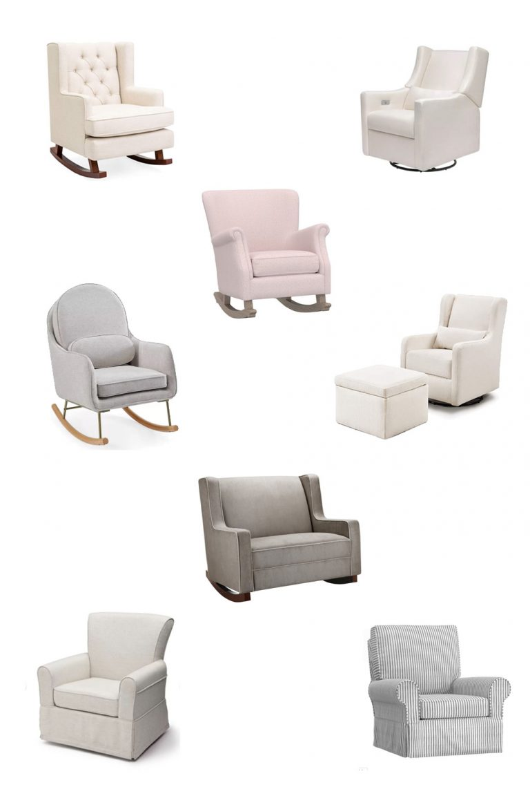 Stylish Gliders and Rocking Chairs for Baby's Nursery
